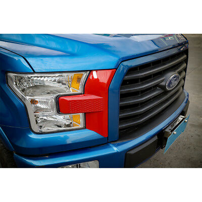 Car Front Bumper Headlight Grille Cover Trim Accessories Red For Ford F150 2015