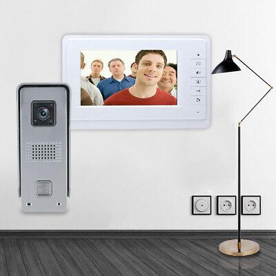 "7"" LCD Video Türsprechanlage Familienhaus Gegen 4 Draht Klingel Sprechanlage DE 2"