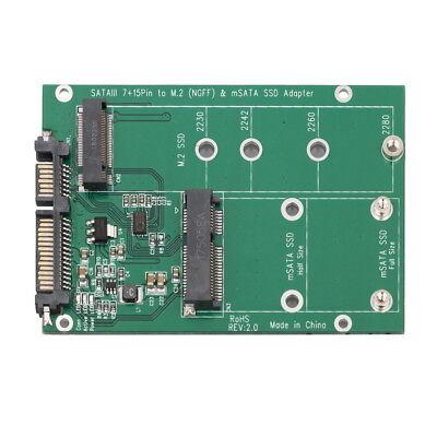 mSATA / M2 NGFF SSD to SATA Converter Adapter Combo Card M.2 2 In 1 3