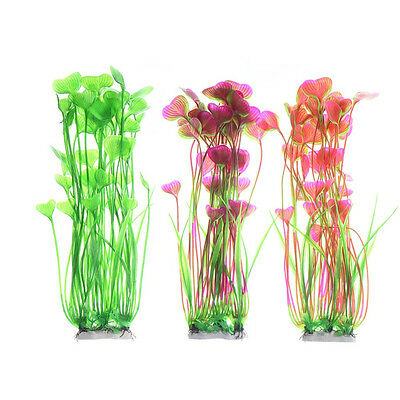 Artificial Water Plants for Fish Tank Aquarium Landscape Plastic Decor Ornament 9