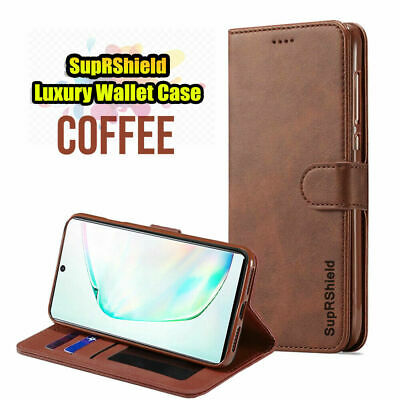 For Samsung Galaxy Note 10 Plus 10+ Genuine SupRShield Wallet Leather Case Cover 9