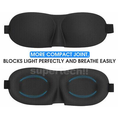4x Travel Sleep Eye Mask Soft Memory Foam Padded Shade Cover Sleeping Blindfold 5