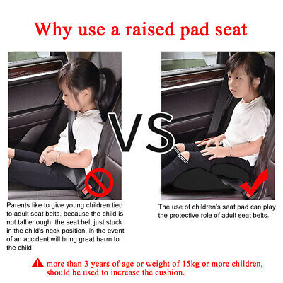 Car Booster Seat Chair Cushion Pad For Toddler Children Kids 3-12 Years Sturdy 7