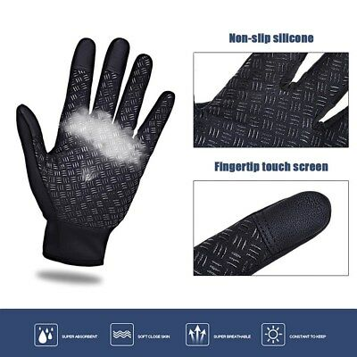 Men Women Winter Warm Windproof Waterproof Thermal Touch Screen Gloves Mittens Y 5
