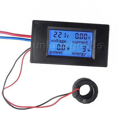 100A AC Digital LCD Power Panel Meter Monitor Power Energy Voltmeter Ammeter NEW 4