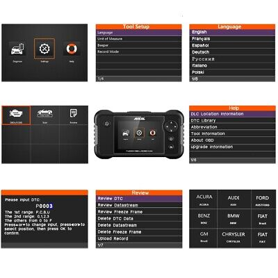 Check Engine Transmission ABS SRS Airbag Code Reader OBD2 Scanner Diagnostic 5