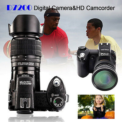 Appareil photo numérique POLO D7200 33MP 1080P +3 objectif large +projecteur LED 2