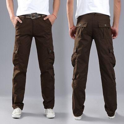 Men's Combat Cotton Cargo Pants Military Camouflage Camo Trousers 6