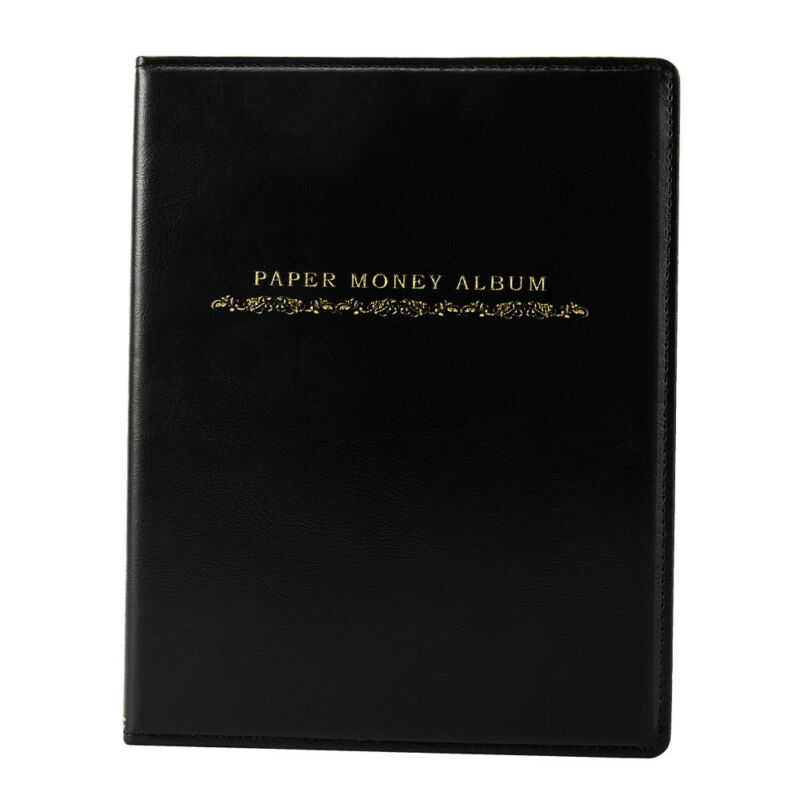 60 Pockets Soft Leather Notes Album Banknote Paper Money Collection Stamps Book 5