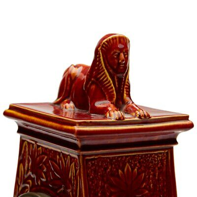 Burmantofts Faience Mantel Clock With Sphinx 8