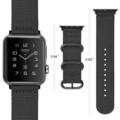 For iWatch Apple Watch Series 3 2 1 42mm Nylon Woven Band Strap Replacement 9