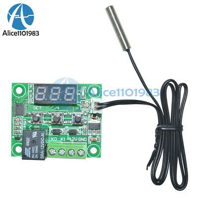 DC12V Red W1209 Digital thermostat Temperature Controler -50-110°C  + Sensor 4