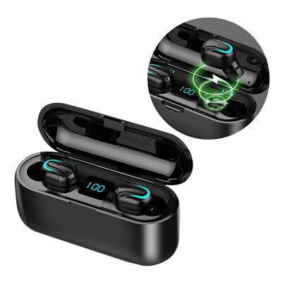 Q32 Mini Auriculares Bluetooth 5.0 TWS Inalámbrico LED Impermeable + Caja Carga 10