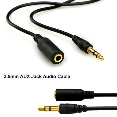 AUX Cable 3.5mm Stereo Audio Input Extension Male to Male Auxiliary Car Cord 6