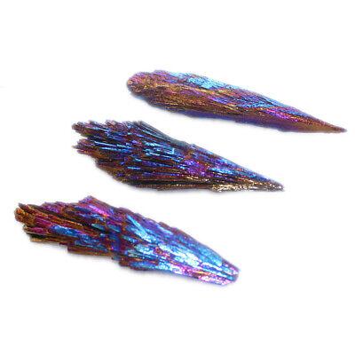 Natural Quartz Crystal Rainbow Titanium Cluster VUG Mineral Specimen Healing 2