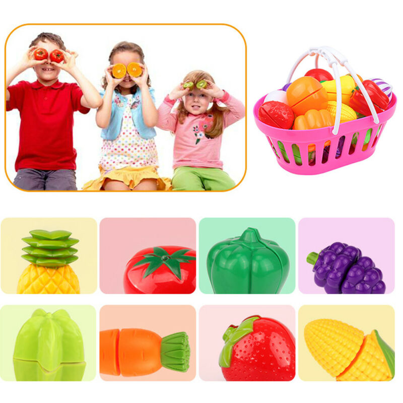 24pcs  Kitchen Fruit Vegetable Pretend Play Toy  Cutting Toy Simulation Food 8