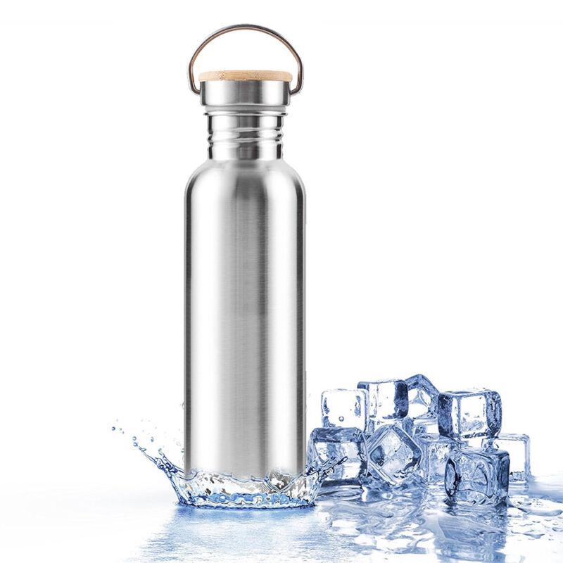 Botella agua aislada al vacío de acero inoxidable Frasco Deportes termales frío 6