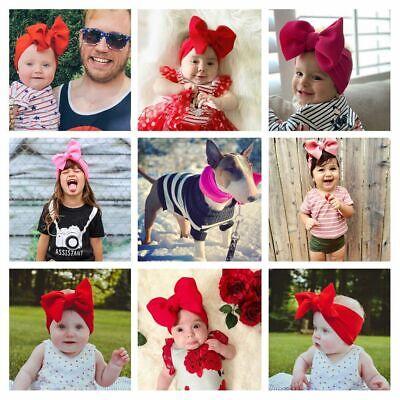Baby Rabbit Headband Cotton Elastic Bowknot Hair Band Girls Bow-knot Newborn Bow 5