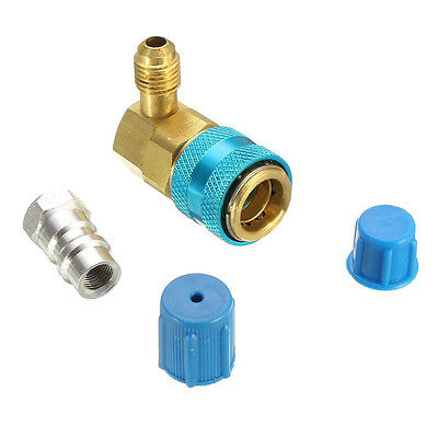 Car A/C Oil & Dye Injector+Low R12 or R134A Quick Coupler Adapter Kit Injection