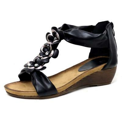 Ladies Wedge Sandals Womens Heels New Fancy Summer Dress Party Beach Shoes Size 3