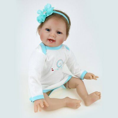 Vinyl Silicone Reborn Doll Real Life Like Looking 22inch Newborn Baby Dolls Gift 8