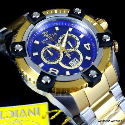 Invicta Reserve Grand Octane Arsenal 2 Tone Steel 63mm Swiss Mvt Blue Watch New 10