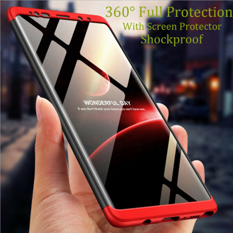 For Samsung Galaxy Note 9/8/S9/S8/S7/Plus/Shockproof 360° Case+Screen Protector 3