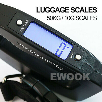 Electronic Digital Portable Scale Luggage Weight Hanging Travel 50 KG 10G AU 8