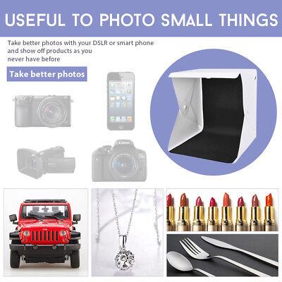 Photo Studio MINI LED Lighting Tent Kit Portable Folding Light Box 6pcs Backdrop 5