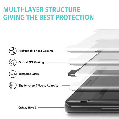 Samsung Galaxy S9 S8 Plus Note 9 8 Full Cover Screen Protector Tempered Glass 5