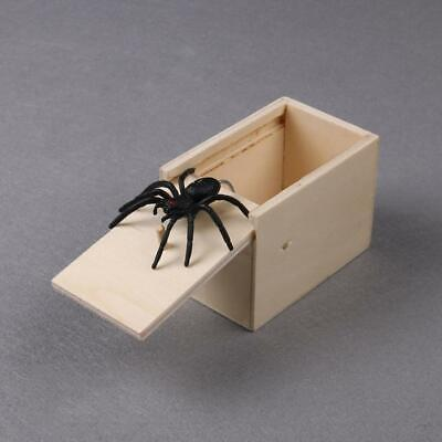 Funny Wooden Prank Spider Scare Box Hidden in Case Trick Play Joke Gag Toys UK 6