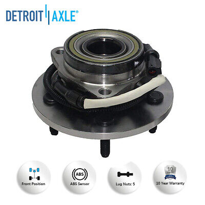 Front Wheel Hub /& Bearing For 2011-2013 Ford Expedition RWD w// ABS Sensor