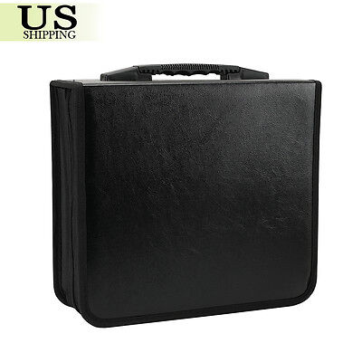 400 Disc CD DVD Organizer Holder Storage Case Bag Wallet Album Media Video Black 6