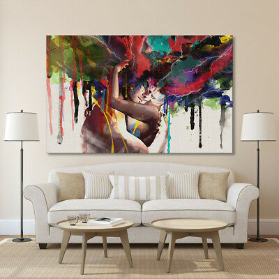 Couple Abstract Living Room home decor Painting Classical Canvas Print wall art 3