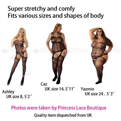 Originale Taglia Uk 8 24 Corpo Calze Body Camicia Da Notte Rete Sexy Intimo Bbw Eur 7 75 Picclick It