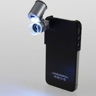Microscopio LUPA 60x Nuevo para iPhone 4 4S + Luz LED + FUNDA + Carcasa i228 2