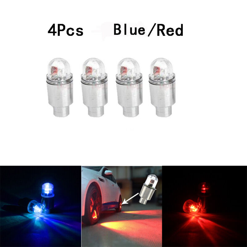 4x Car Auto SUV Wheel Tire Tyre Air Valve Stem LED Light Caps Cover Accessories 2