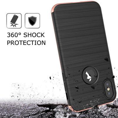 Coque Etui Intégrale 360° Protection iPhone 6/6S/Plus/7/8/X + Film Verre trempé 7