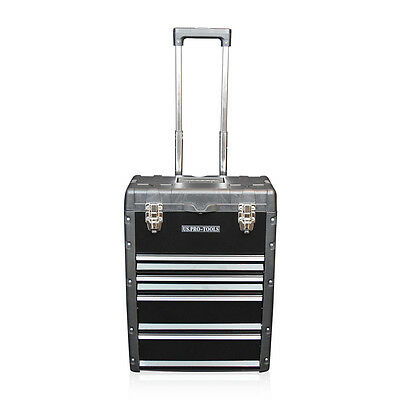 320 US PRO Tools Black Mobile Roller Chest Trolley Cart Storage cabinet Tool Box 4