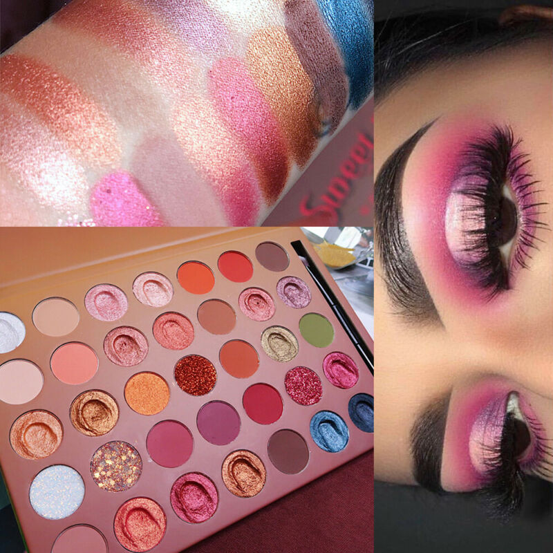 35 Colors/Box Glitter Matte Pearlescent Eye Shadow Pigment Palette Shimmer New 2