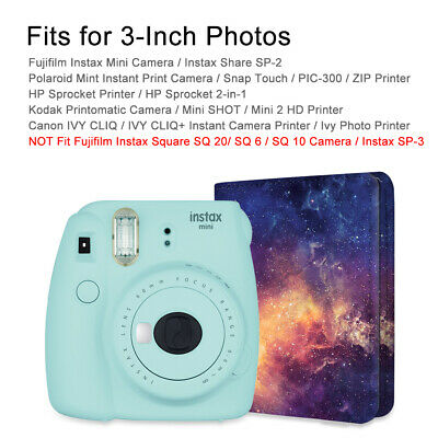 Mini Photo Album 104 Pockets For Fujifilm Instax Mini 8/9 Mini 90/25,HP Sprocket 10