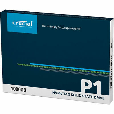 Crucial P1 1TB SSD M.2 PCIe NVME 3D NAND Internal Solid State Drive 2000MB/s NEW 3