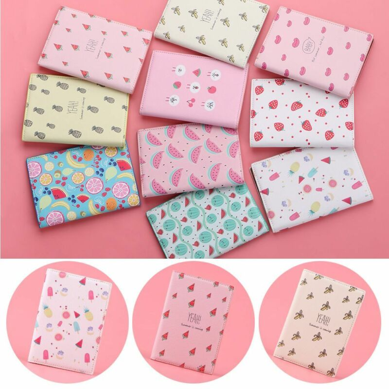 Fruit Travel Passport Cover ID Card Holder Case Pouch Protector Organizer Wallet 2