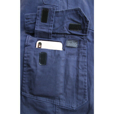 CARGO PANTS Mens Work Trousers Classic Fit UPF 50+ Stretch Cotton Drill 3M Tape 10