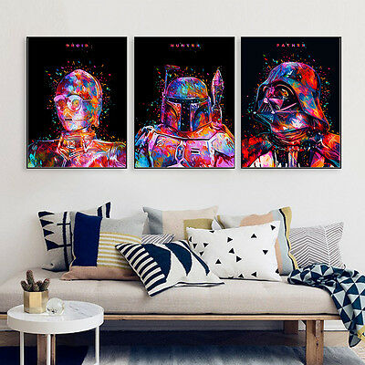 Star Wars Movie Characters Canvas Poster Print Painting Modern Home Wall Decor 3