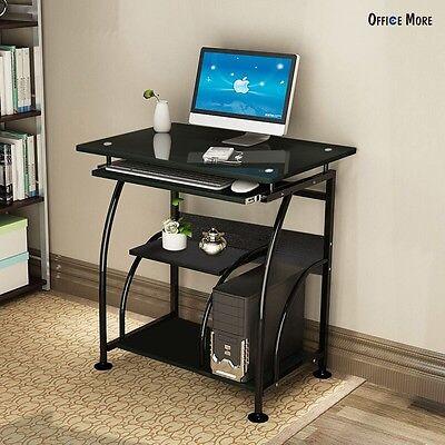 Home Office PC Corner Computer Desk Laptop Table Workstation Furniture Black 4
