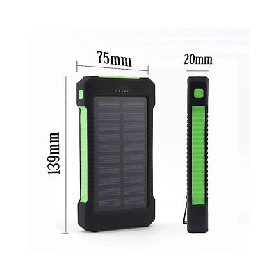 50000mah Solar Power Bank 2 LED 2 USB Waterproof Battery Charger for Cell Phone 7