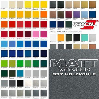 (15,10€/m²) Oracal 970RA Holzkohle Matt Metallic 937 Autofolie Luftkanal Folie