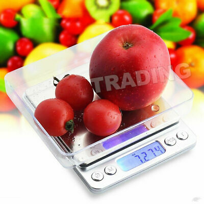 0.01-500g Kitchen Food Scale Digital LCD Electronic Balance Weight Postal Scales 11
