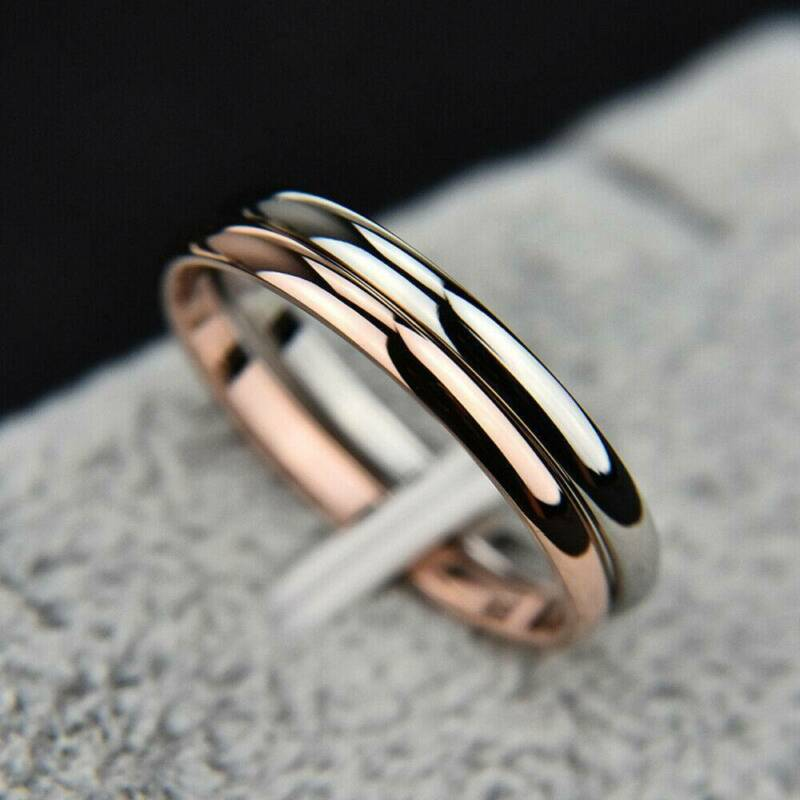 2mm Thin Stackable Ring Stainless Steel Plain Band for Women Girl Size 6-9 1PC 5